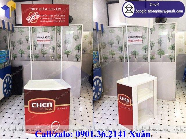 booth bán hàng lưu động nhựa