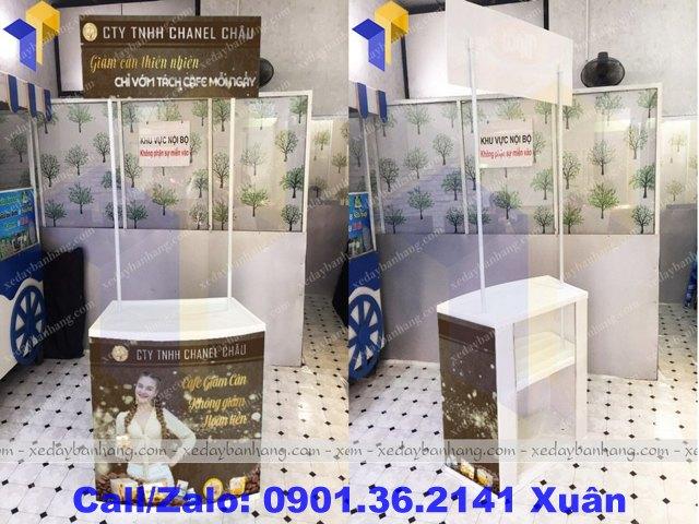 booth sampling nhựa giá rẻ